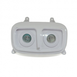 DOUBLE OPTIQUE REPLAY 2X20W BLANC/BLANC