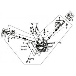 Culasse complète SYM Orbit Fiddle 50 Euro 4